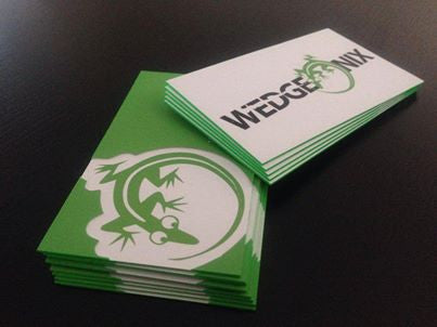 "Full Color 32pt Thick 3.5x2"" Edge Painted Silk Premium Business Cards"