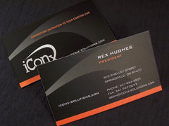 Silk Laminated/Soft Touch Business Cards