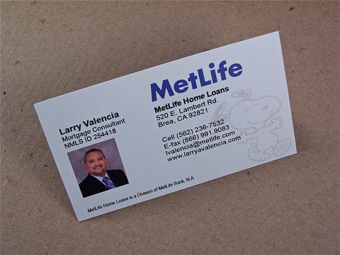 "Full Color 9pt 3.5x2"" Synthetic Business Cards"