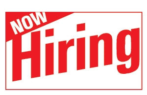 Now Hiring 3x5 Foot Banner