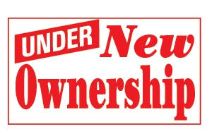 Under New Ownership 3x5 Foot Banner