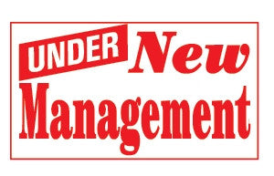 Under New Management 3x5 Foot Banner