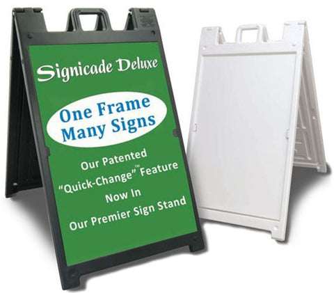 "Plasticade Signicade Deluxe 24x36"" A-Frame Sign (PS32D)"
