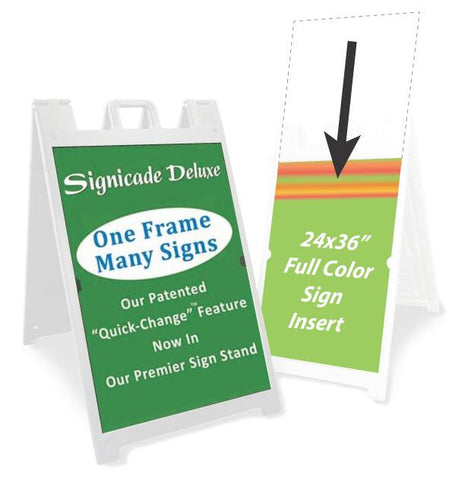 "Full Color 24x36"" A-Frame Sign Inserts"