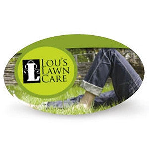 "Full Color 14pt 3.5x2"" Oval Die Cut Business Cards"
