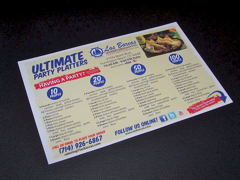 "100lb 8.5x5.5"" Restaurant Take Out to-go Menus"