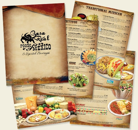 "100lb 8.5x11"" Restaurant Take Out to-go Menus"