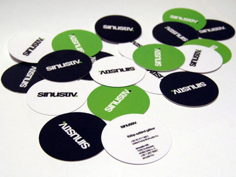 "Full Color Matte 16pt 2.5"" Round Circle Die Cut Business Cards"