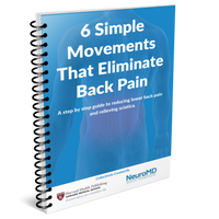 FREE 6 Simple Movements To Eliminate Back Pain eBook ($9.95 Value - Instant download)