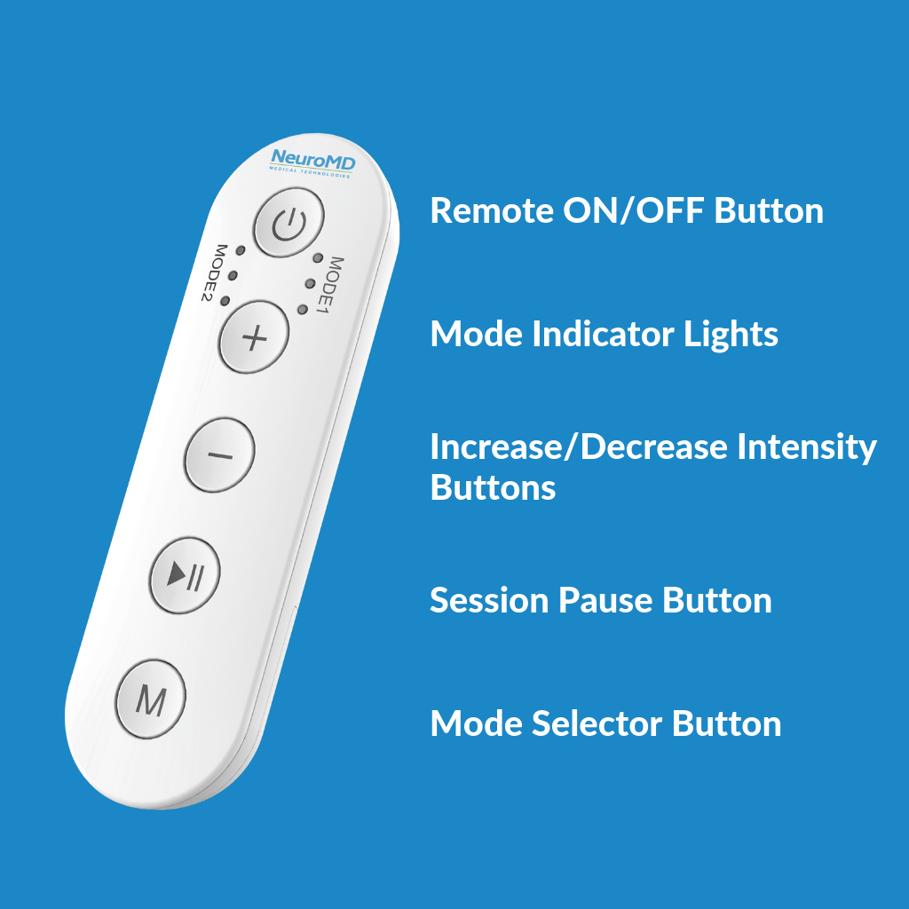 NeuroMD Corrective Therapy Device Replacement V2 Remote (For devices ordered between 10/03/2020)