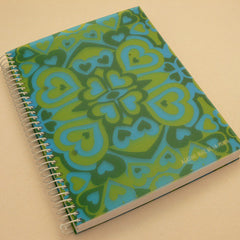 Agatha Ruiz de la Prada A5 Kaleidoscope Notebook - Blue/green