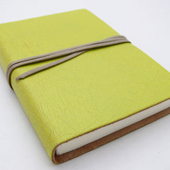 Barbara Wiggins A6 Leather Notebook - Lime Green