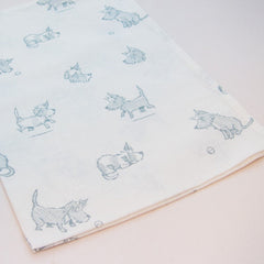 Hot Paws & trogg tea towels - blue terriers