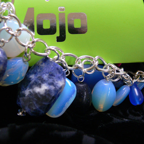 Sodalite and Opal Quartz charm bracelet
