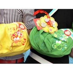 Chupa Chups cotton Shoulder Bags - Green and Yellow