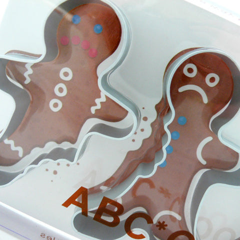 ABC Gingerbread Men Biscuit Cutters by Fred
