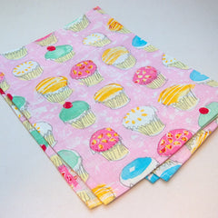 Hot Paws & trogg cup cake tea towels - pink