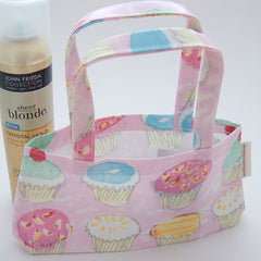 hot Paws & trogg Small Bag - cup cakes on pink