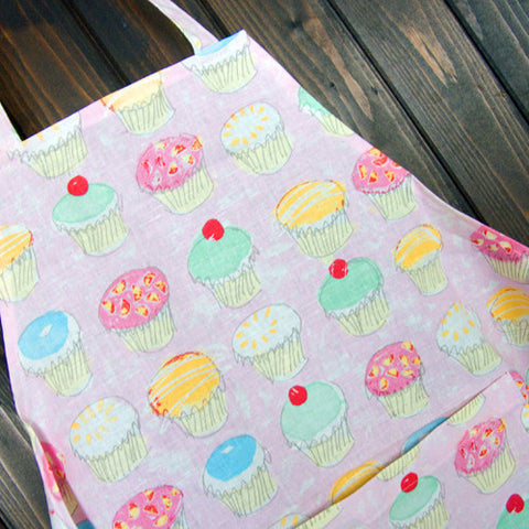 Hot Paws & Trogg Cup Cake Apron on Pink