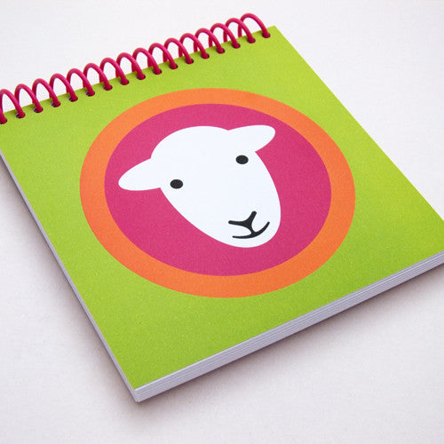 Herdy square notebooks - green/pink