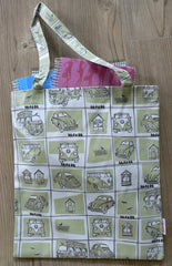 Jam Tart Book Bag - VW Camper Van in sage
