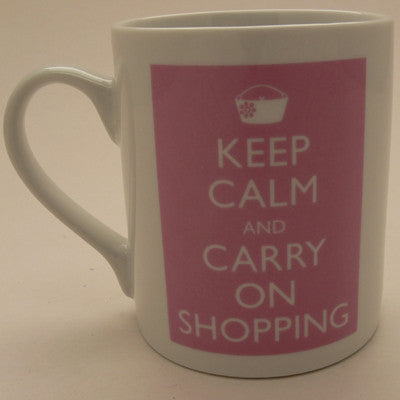Catherine Colebrook Mug - Keep Calm and Carry on Shopping
