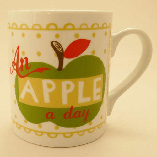 Pintuck Designs - An Apple A Day Retro Mug