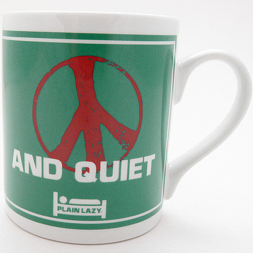 Plain Lazy Peace and Quiet mug