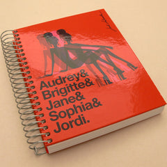 Jordi Labanda A5 College Notebooks - Cameron - Red