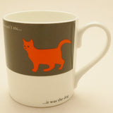 Repeat Repeat Orange Moggy Mug