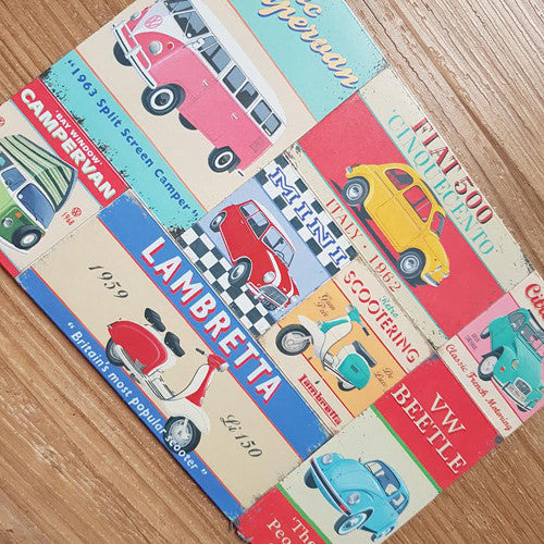 Vintage Motoring Fridge Magnets