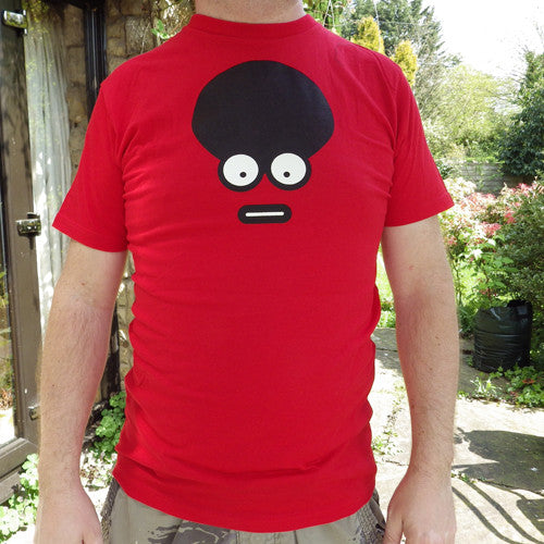 Red afro t-shirt