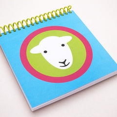 Herdy square notebooks - blue/green