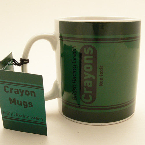 Gift Republic Crayon Mug - British Racing Green