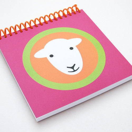 Herdy square notebooks - pink/orange