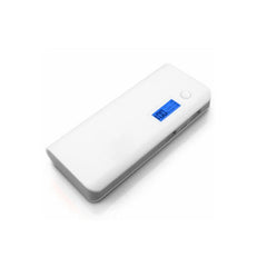 Dual USB Power Bank 11000mAh - White Grey
