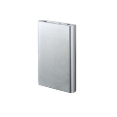 Dual USB Power Bank 12000mAh - Silver