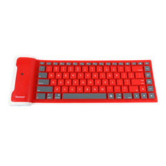 Flexible Bluetooth Keyboard - Red