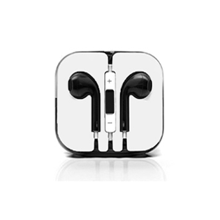 Earphones with Mic and Volume Control - Black