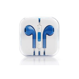 Earphones with Mic and Volume Control - Blue