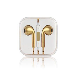 Earphones with Mic and Volume Control - Gold