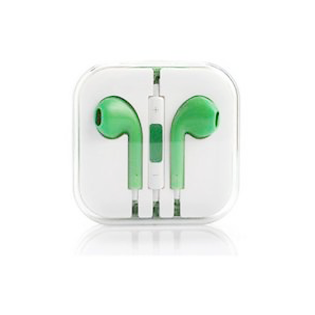 Earphones with Mic and Volume Control - Green