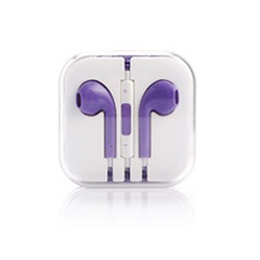 Earphones with Mic and Volume Control - Purple