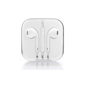 Earphones with Mic and Volume Control - White - Tangled - 1