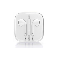 Earphones with Mic and Volume Control - White