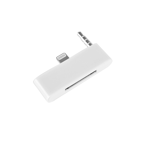Lightning to 30-Pin Adapter with Audio - White - Tangled - 1