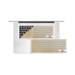 "12"" MacBook KeyBoard Cover - Gold - Tangled"