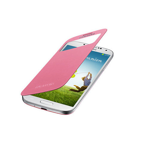 Flip Case for Samsung S4 in Pink (S-View) - Tangled