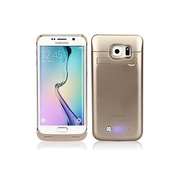 Samsung S6 Plus Battery Case 4200mAh - Gold - Tangled