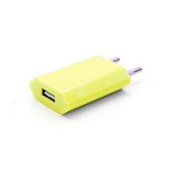 USB Wall Plug - Yellow